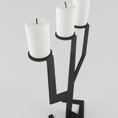 Подсвечник CACTUS черный | Дизайнерская мебель ESENSE