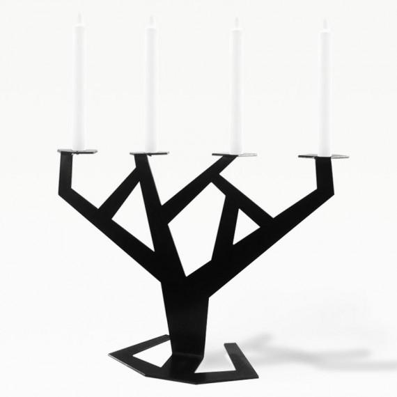 Подсвечник TREE черный | Дизайнерская мебель ESENSE